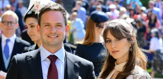 Patrick J. Adams Troian Bellisario Royal Wedding