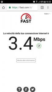 velocità connessione internet netflix
