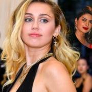 Miley Cyrus Nick Jonas Priyanka Chopra
