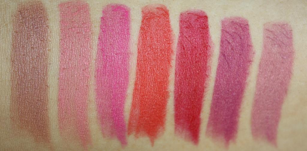 Kiko Velvet Passion Matte Lipstick swatches