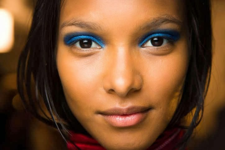 blue eyeshadow spring 2014 black women