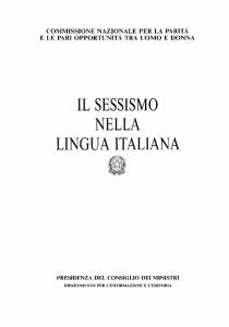 femminile nella lingua italiana