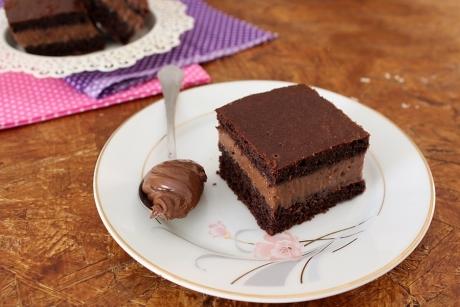 torta mousse di nutella