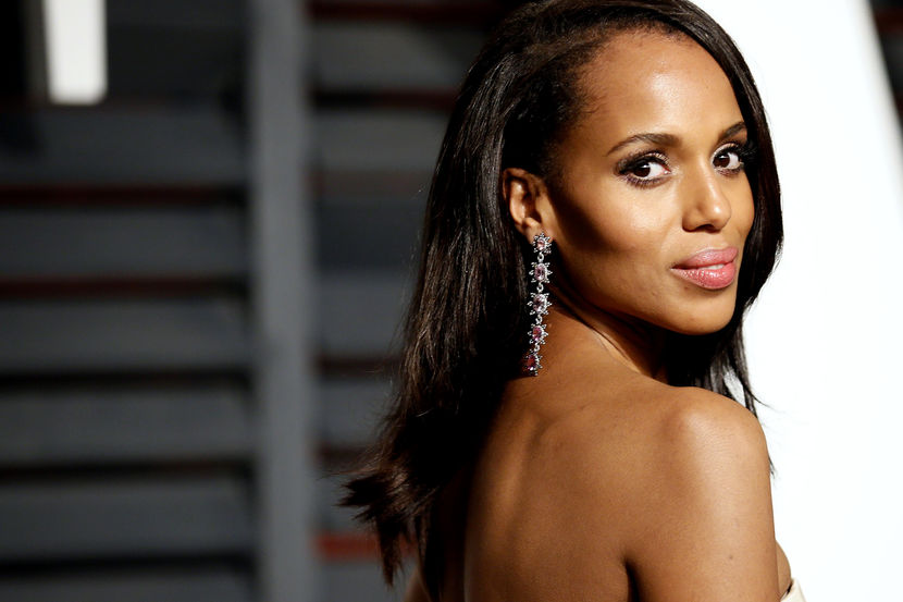 Actress Kerry Washington arrives at the 2015 Vanity Fair Oscar Party in Beverly Hills, California February 22, 2015. REUTERS/Danny Moloshok (UNITED STATES - Tags:ENTERTAINMENT) (VANITYFAIR-ARRIVALS) - RTR4QPVJ