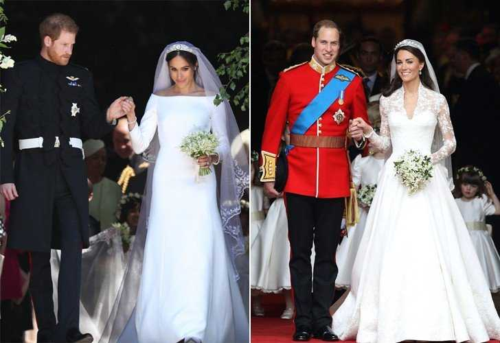Meghan-Markle-Kate-Middleton-Wedding-Dresses-Pictures