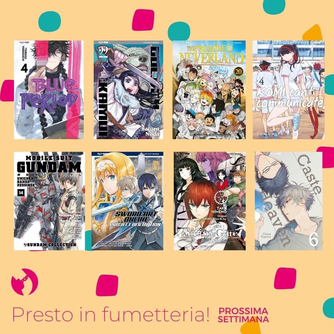 le uscite manga j-pop del 31 Marzo 2021