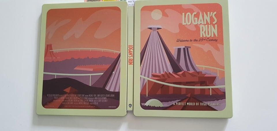 la fuga di logan steelbook poster edition