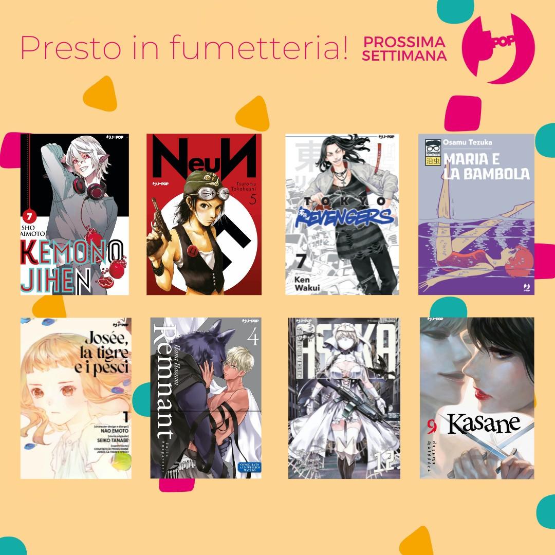 Le uscite Edizioni BD e J-POP Manga del 6 Ottobre 2021