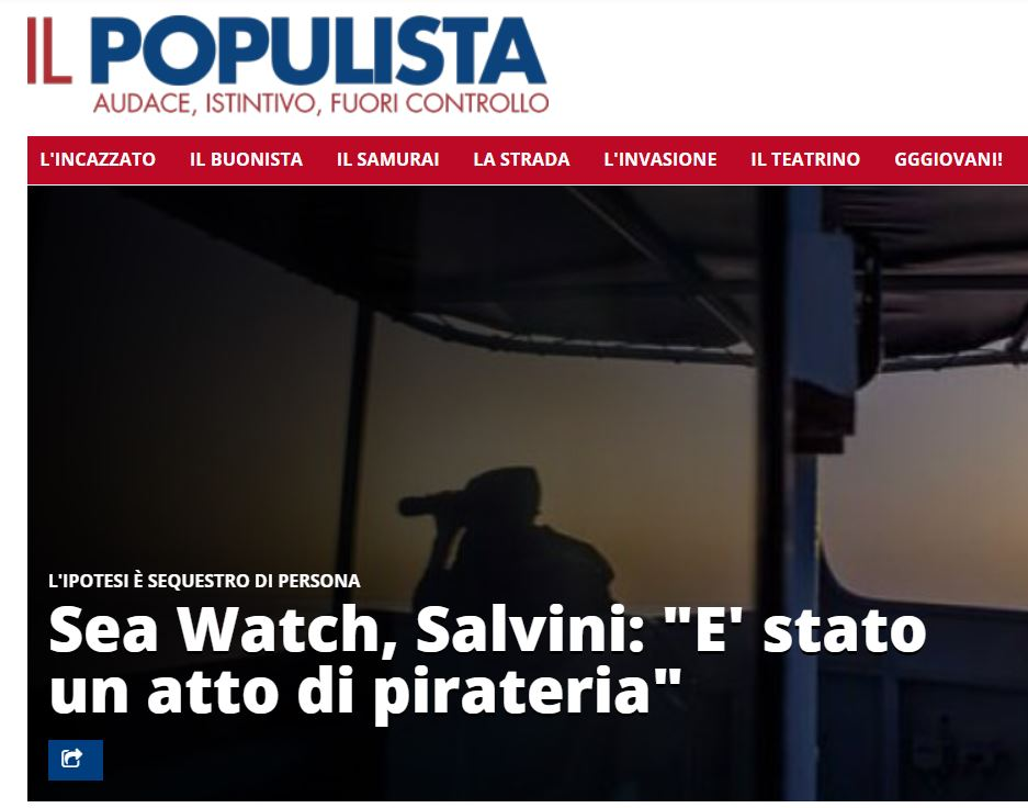 salvini sea watch confessa
