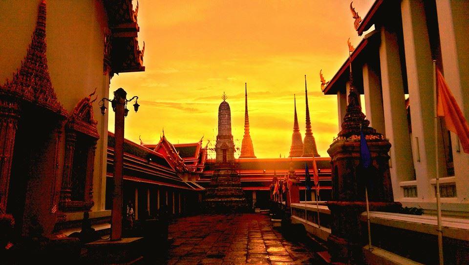 tramonto su Bangkok