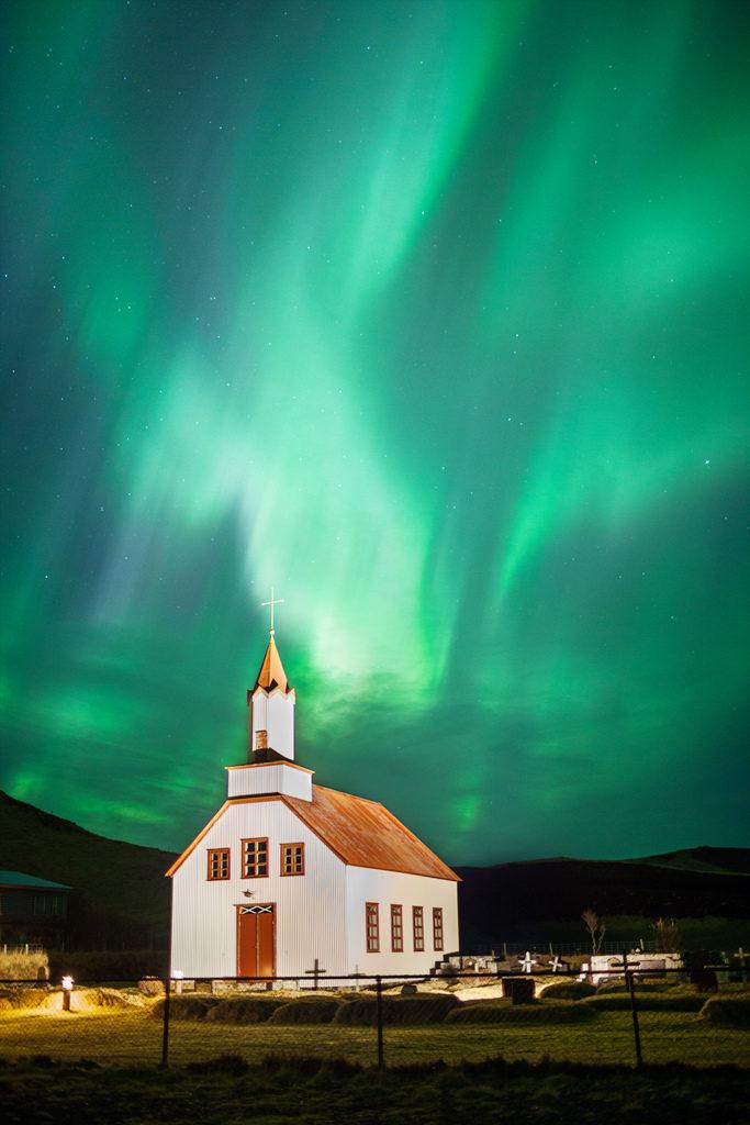 Aurora Boreale su Vik