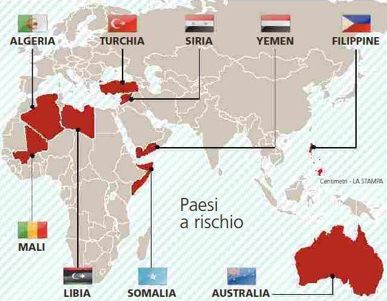 dove sono i jihadisti pronti a colpire