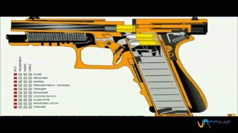 una pistola semiautomatica