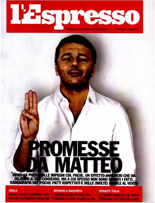 La copertina dell'Espresso di venerdì 17 ottobreeee