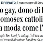 tim cook gay giornale 1