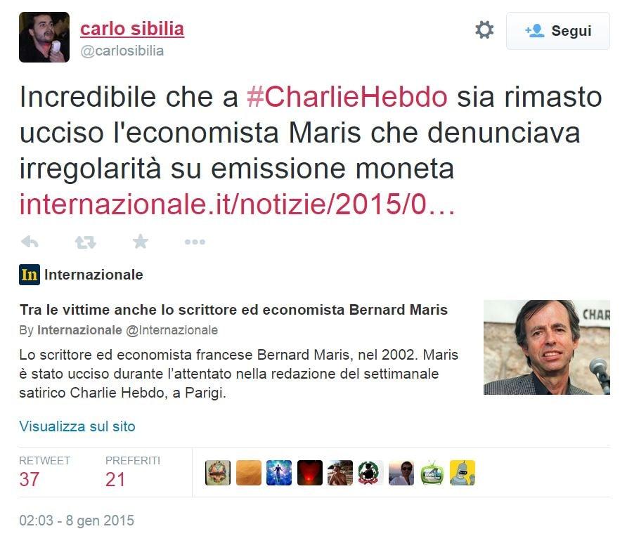 carlo sibilia charlie hebdo complotto 1