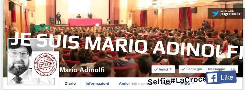 MARIO ADINOLFI PROFILO FACEBOOK BLOCCATO