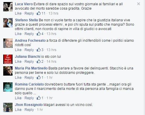 stacchio commenti facebook  giornale vicenza - 1