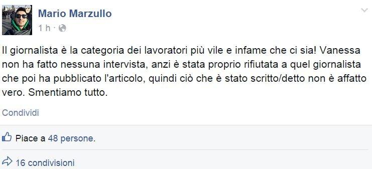 intervista vanessa marzullo repubblica smentita