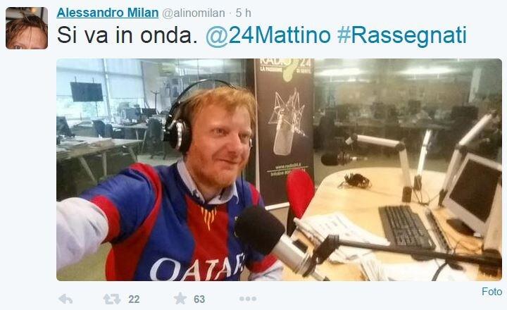alessandro milan barcellona radio24
