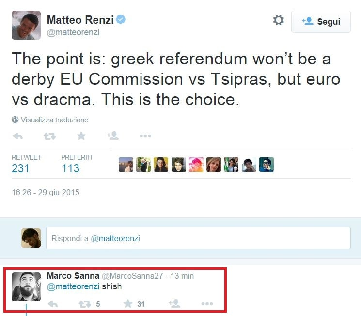 matteo renzi referendum euro dracma