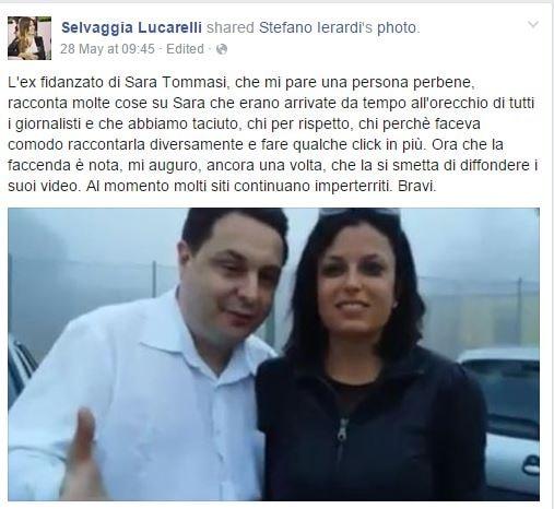 Selvaggia Lucarelli oggi ha molto a cuore la salute di Sara Tommasi, che amica!