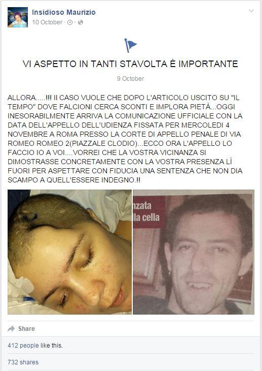 Maurizio Insidioso, il padre di Chiara risponde all'intervista dell'ex-fidanzato della figlia (Facebook.com)