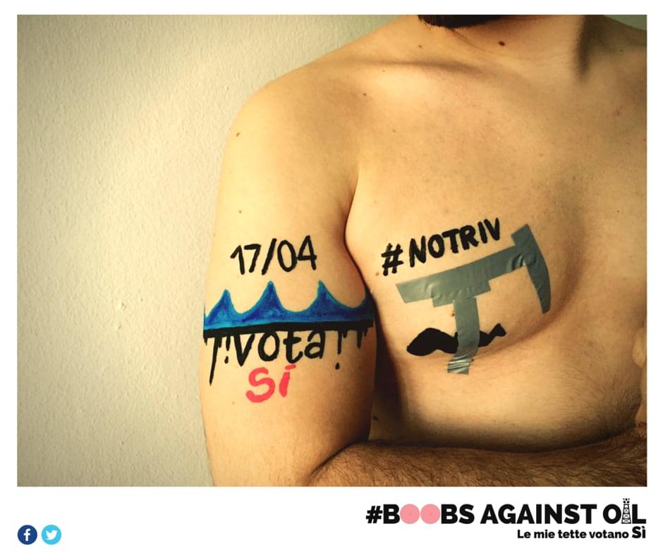 boobs against oil tette referendum trivellazioni - 4
