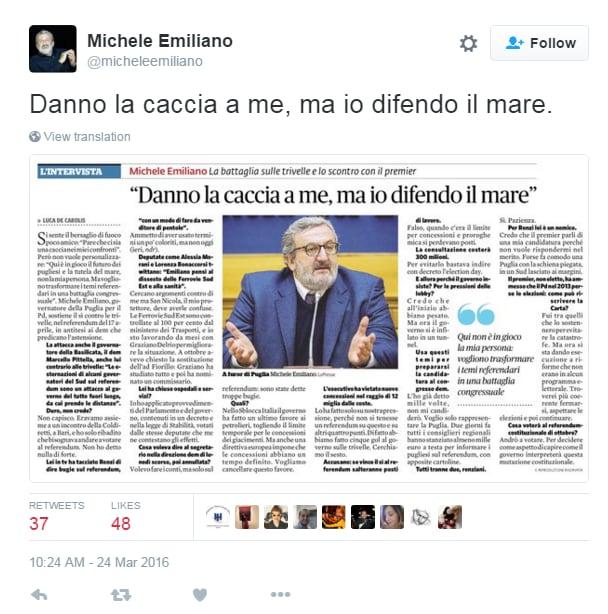 michele emiliano guerra renzi trivelle referendum - 3