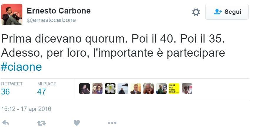 Il ciaone del dirigente pd al referendum nextquotidiano for Deputati del pd