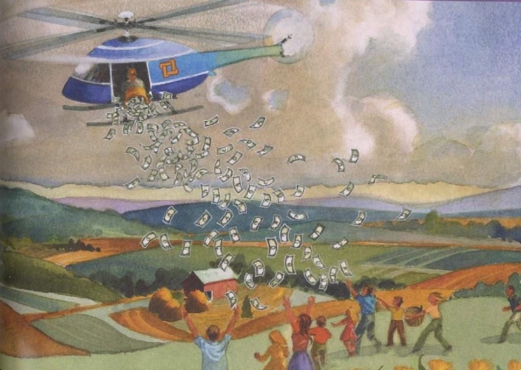 Risultato immagini per foto di helicopter money