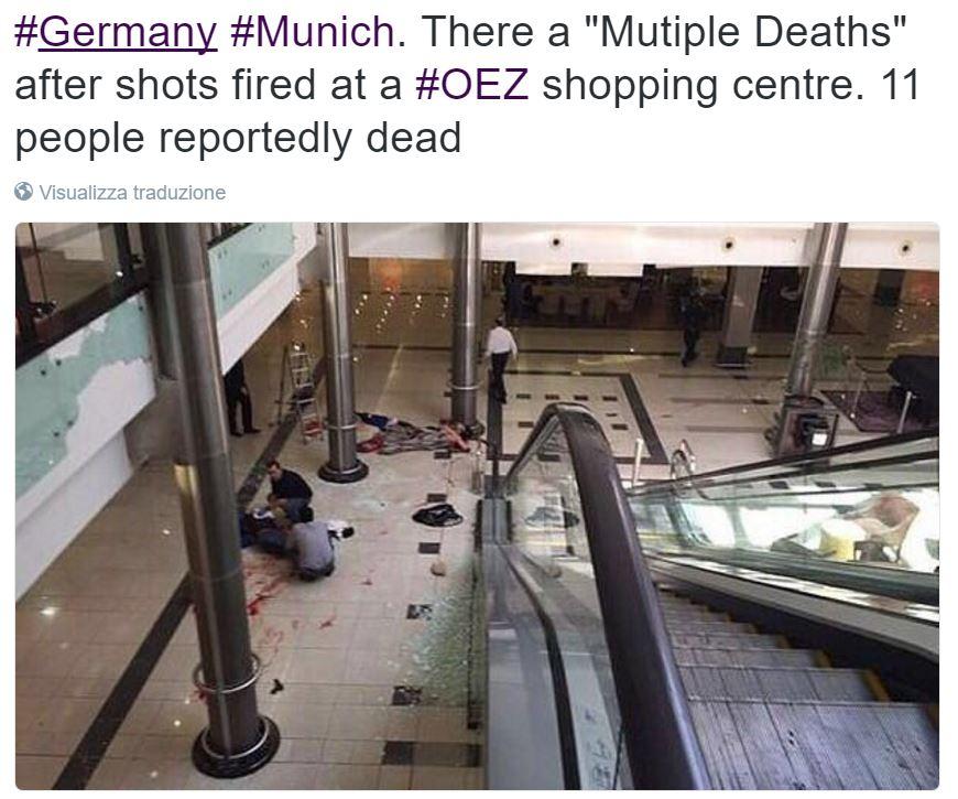 sparatoria monaco centro commerciale olympia foto