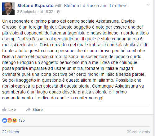 stefano esposito foreign fighter torinese siria - 1