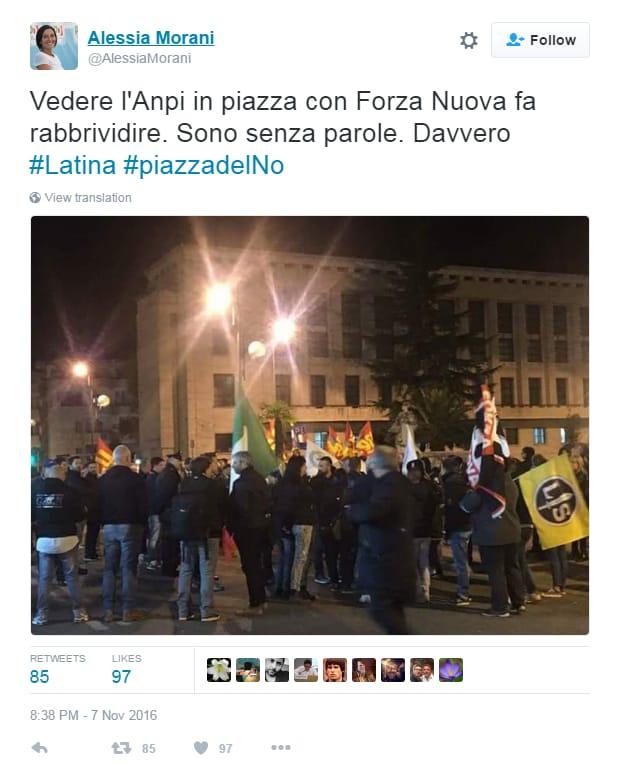 anpi forza nuova latina referendum renzi
