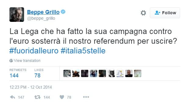 di battista referendum euro grillo