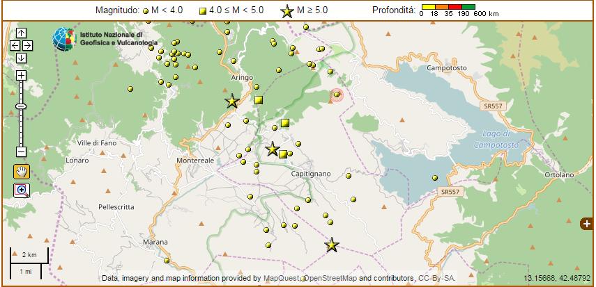 terremoto capitignano montereale