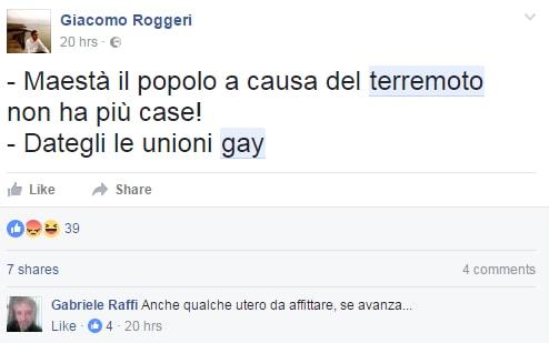 terremoto unioni civili gay