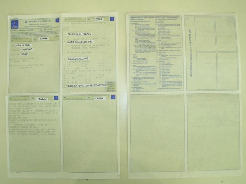 libretto di circolazione 1
