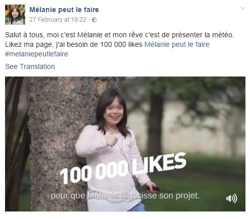 Mélanie Ségard meteo france 2 sindrome down - 1