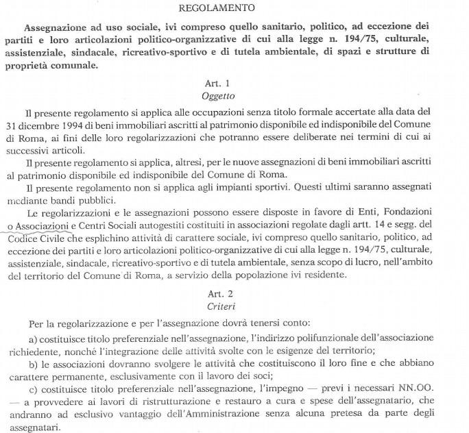 delibera 140 delibera 26 sfratto associazioni - 1