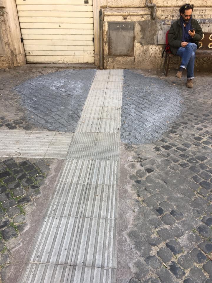 finti sampietrini roma monti cemento - 1