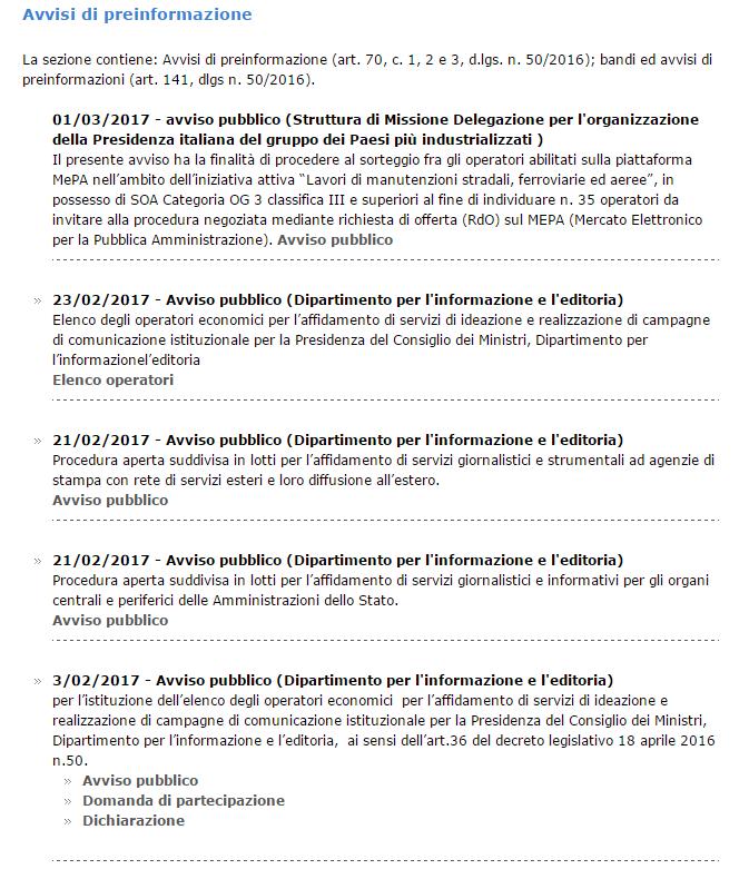 luca lotti dipartimento editoria bando europeo ricorso tar anac - 2