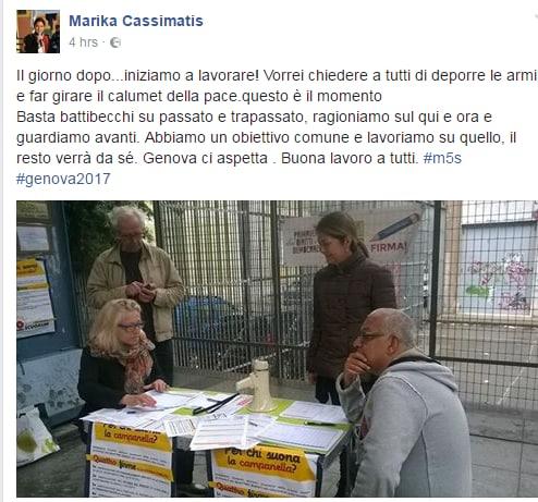 luca pirondini Marika Cassimatis m5s genova sindaco - 2