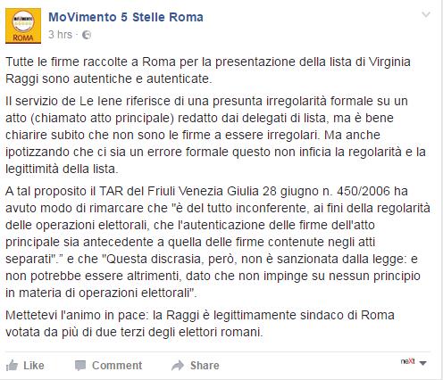 m5s firme lista roma raggi falso onorato iene - 1