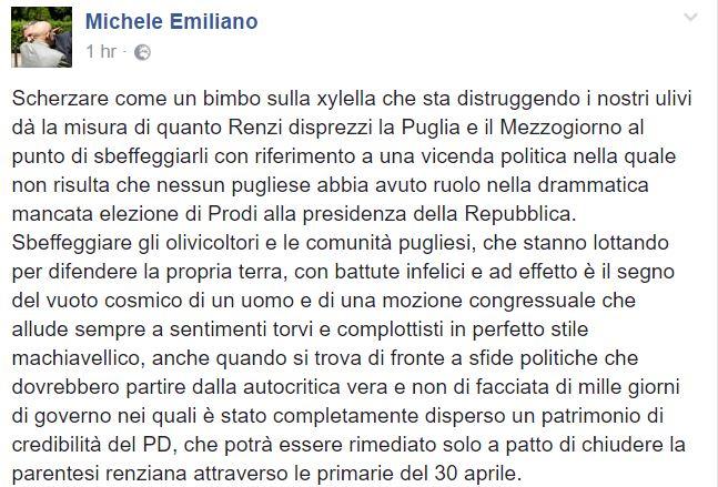 michele emiliano xylella