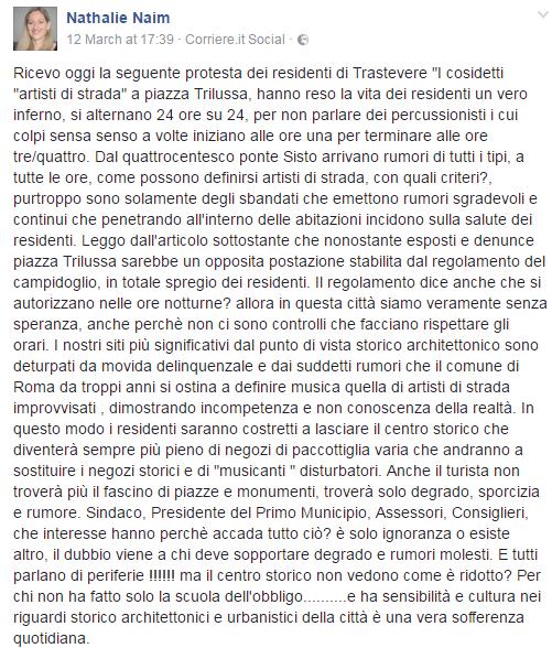 mozione anti artisti di strada roma municipio 1 - 3