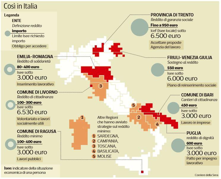 reddito di inclusione italia mappa