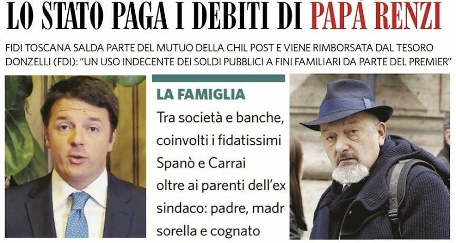 La condanna al Fatto per diffamazione di Tiziano Renzi