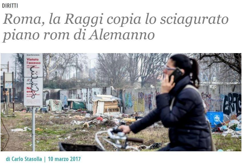 virginia raggi campo rom