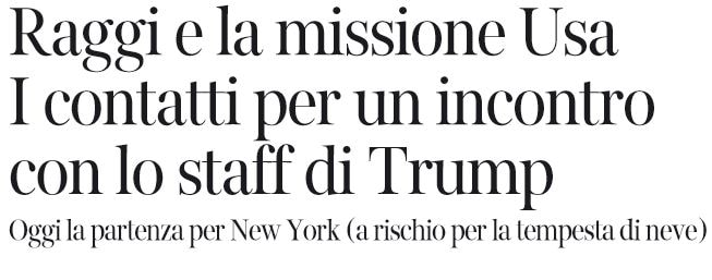 virginia raggi donald trump